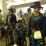 military uniform displays