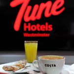 Make your stay more enjoyable with a nice Costa breakfast only at £5.50 per person!!