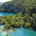 a view of the Plitvice Lakes