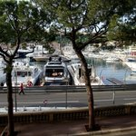 View from room to Port Hercule.