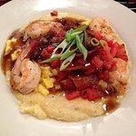 Shrimp and grits with red-eye gravy at BBB