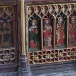 The 1430's screen in the church