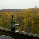 Enjoy a bottle of wine in the fall