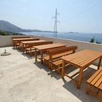 BBQ area seating