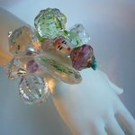 one-of-a-kind cuff /vintage lucite
