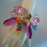 one-of-a-kind cuff / vintage lucite and crystal