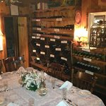 Private dining in out wine room for parties of 4 to 8.