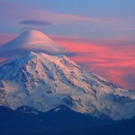 Rainier with Lenticular Clouds