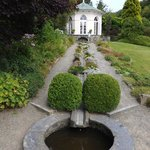 Gazebo and water feature