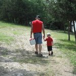My dad 4 years after the heart attack, taking a walk with his 3 1/2 year old grandson!