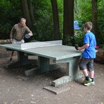 Outdoor table tennis (great for the older children)