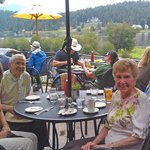 Brunch on the patio at Willow Creek