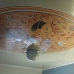 pretty ceiling painting in our 2 queen room