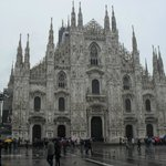 Milan: the cathedral. It rained.