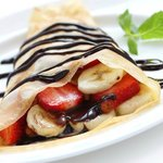 Fusion Crepe, Banana, Strawberry and Nutella