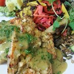 Carrot, Cashew Nut and Sunflower Seed Roast with a Mustard and Herb Sauce