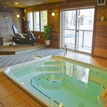Common area indoor hot tub