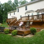 Deck on back of B & B