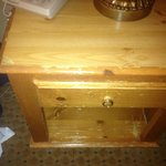 Old / Worn-out / Scratched bedside table 2.