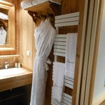 bathroom robes and heated towel bar