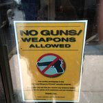 Outside Entrance Proclaiming NO GUNS