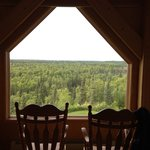From our bed in the Denali view suite