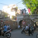 Old City Gate with lots of Traffic.