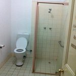 The one shared bathroom that was in working order on the ground floor