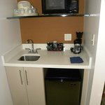 Handy sink, fridge and microwave