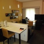 kitchenette and desk area