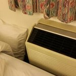 A/C really close to bed