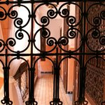 Wonderful ironwork from bedroom window