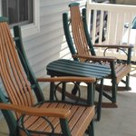 Fantastic rocking chairs on the front porch!