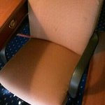 stained office chair