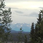 View of Wrangel-St. Elias National Park from room at 11:30 pm
