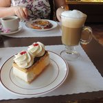 Cappuccino and Napoleon Slice - Yummy!