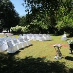 Backyard ceremony site