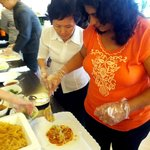 Learning to make Singaporean dishes during a Hi-Tea event !!