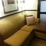 Sitting area room 617. comfy couch