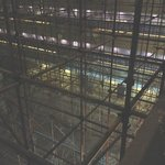 Scaffoldings in the lobby