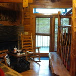 A Cabin in The Woods--Forget Me Not Cabin-Sitting Area w/fireplace