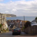 view from the yha swanage