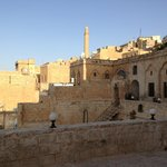 Hotel and view of Mardin from terrace