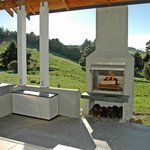 Hoeke Lodge, Carterton, Wairarapa, BBQ area