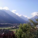 view from the terrace to the Alps and Stubai Vally