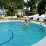 Grandson in the pool