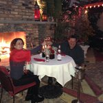 Dinner in the Rouge garden on a cool night, march 2013.