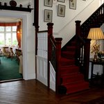 The staircase inside Ditton Lodge