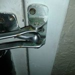 Broken security latch in 112