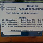 parking costs on the beachfront